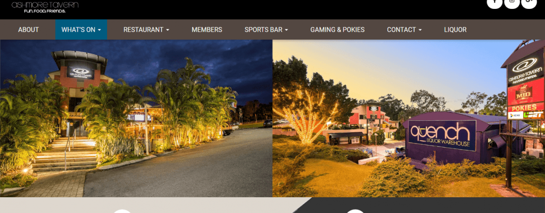 Ashmore Tavern Website Optimised For The Search Engine and Developed by Porter Technology
