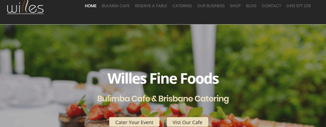 Bulimba Websites & Search Engine Optimisation For Cafes Like Willes Fine Foods